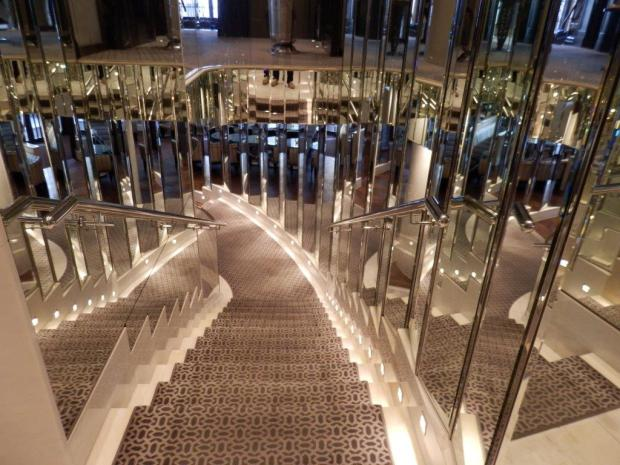 COCO CHANEL MIRRORED STAIRCASE
