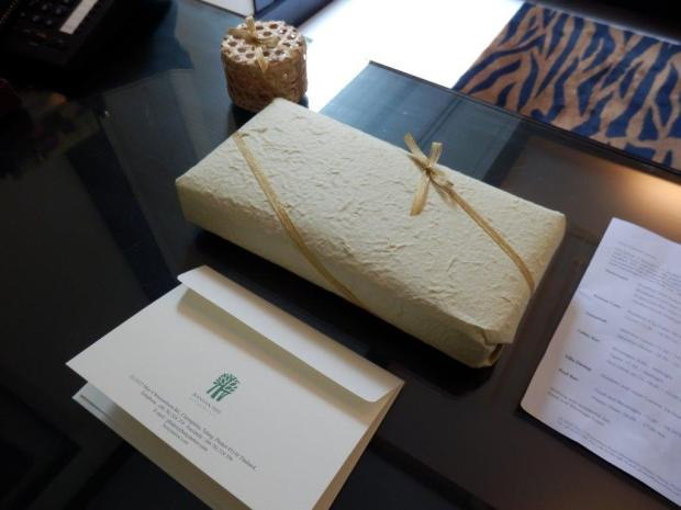 SPA SANCTUARY VILLA: WELCOME GIFT