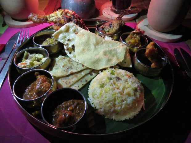 DOWN TO EARTH RESTAURANT: INDIAN DINNER