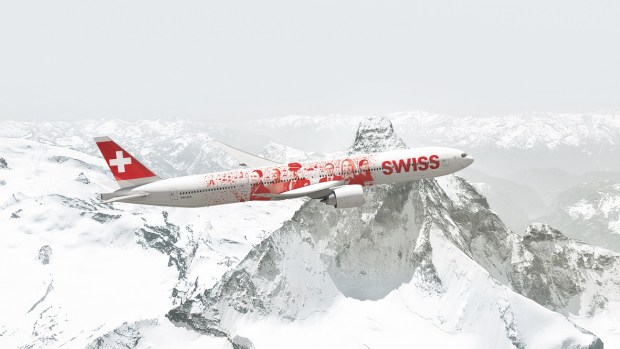 SWISS' FIRST BOEING 777-300ER