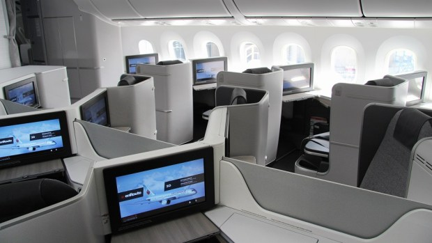 AIR CANADA B787 BUSINESS CLASS