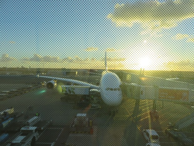 A380 AFTER LANDING IN AMSTERDAM
