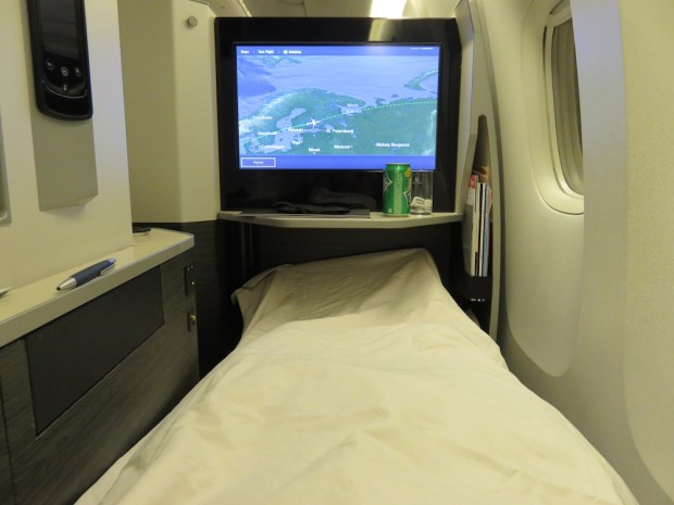 BUSINESS CLASS SEAT 12K: FLATBED