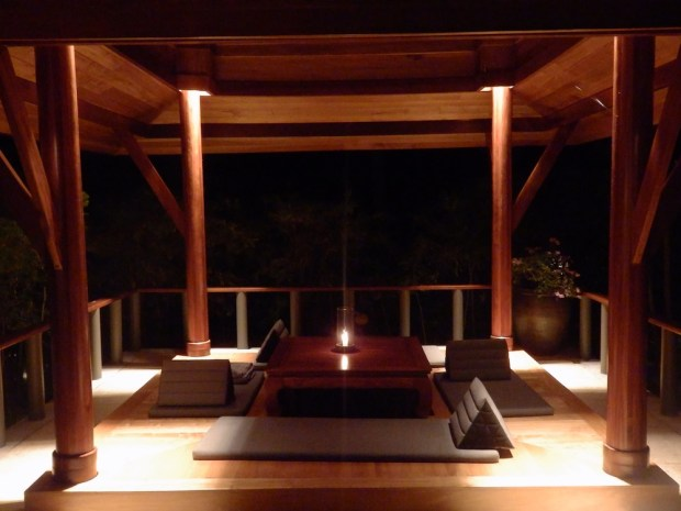ROOM: GARDEN PAVILION (AT NIGHT)