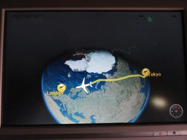 FLIGHT PATH: REACHING COAST OF NORWAY