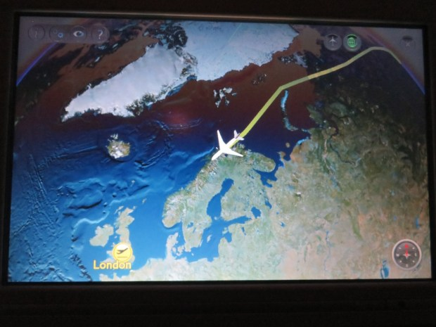 FLIGHT PATH: REACHING COAST OF NORWAY