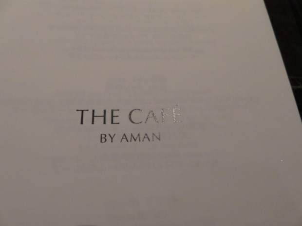 THE CAFE BY AMAN: DINNER