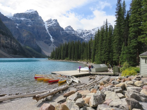 KAYAKING ON MORAINE LAKE