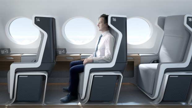 CABIN OF BOOM SUPERSONIC AIRCRAFT