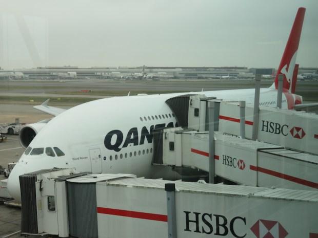 QANTAS A380 (UPON ARRIVAL AT LONDON)