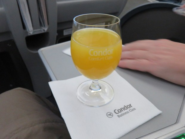 ORANGE JUICE BEFORE TAKEOFF