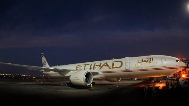 ETIHAD AIRWAYS B777 - ABU DHABI TO LOS ANGELES