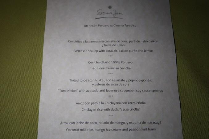 DINNER AT CINEMA PARADISO