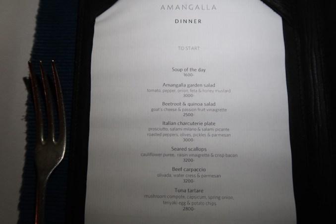 AMANGALLA DINNER