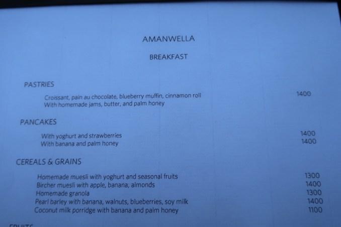 AMANWELLA: BREAKFAST