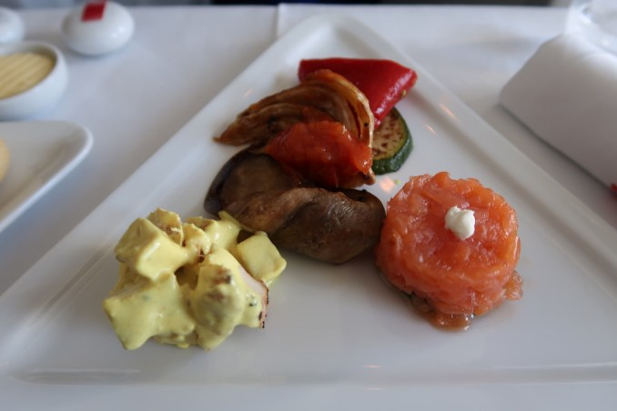 AUSTRIAN AIRLINES BUSINESS CLASS LUNCH: STARTER