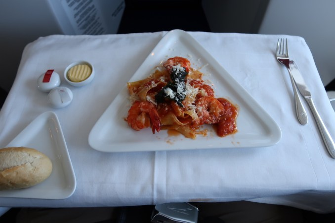 AUSTRIAN AIRLINES BUSINESS CLASS LUNCH: MAIN COURSE