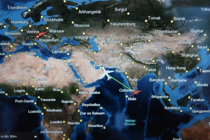 AUSTRIAN AIRLINES BUSINESS CLASS INFLIGHT ENTERTAINMENT