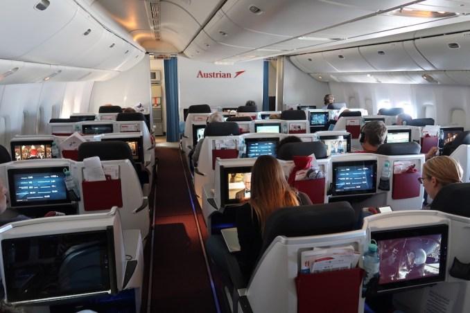 AUSTRIAN AIRLINES B777 BUSINESS CLASS CABIN