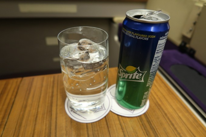 THAI AIRWAYS B747 FIRST CLASS DINNER: APERITIF