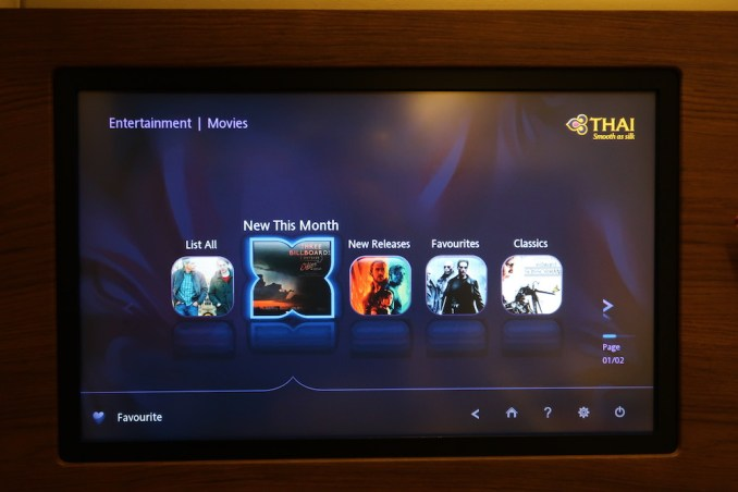 THAI AIRWAYS B747 FIRST CLASS INFLIGHT ENTERTAINMENT