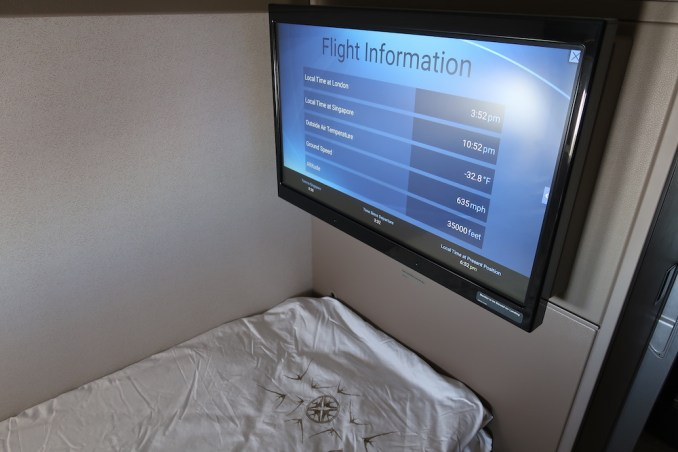 SINGAPORE AIRLINES A380 FIRST CLASS SUITE - FLAT BED