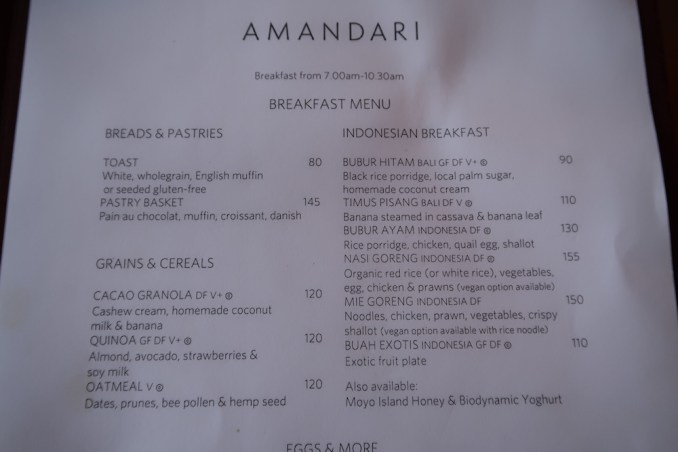 AMANDARI: RESTAURANT - BREAKFAST