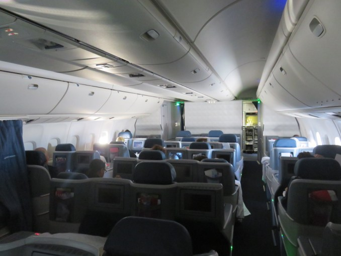 DELTA B767 BUSINESS CLASS CABIN (IN FLIGHT)