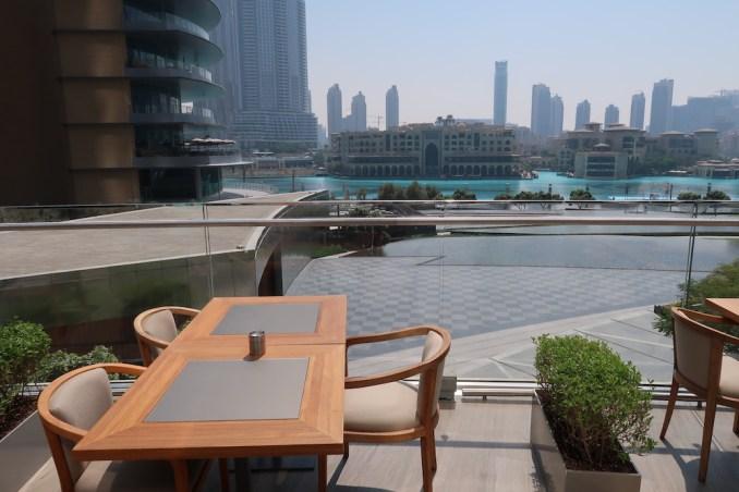 ARMANI HOTEL DUBAI: ARMANI/MEDITERRANEAO TERRACE
