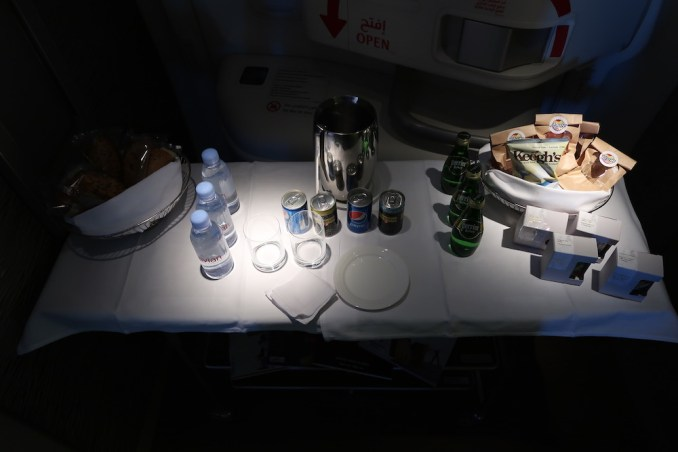 EMIRATES B777 FIRST CLASS: SNACK BAR IN GALLEY