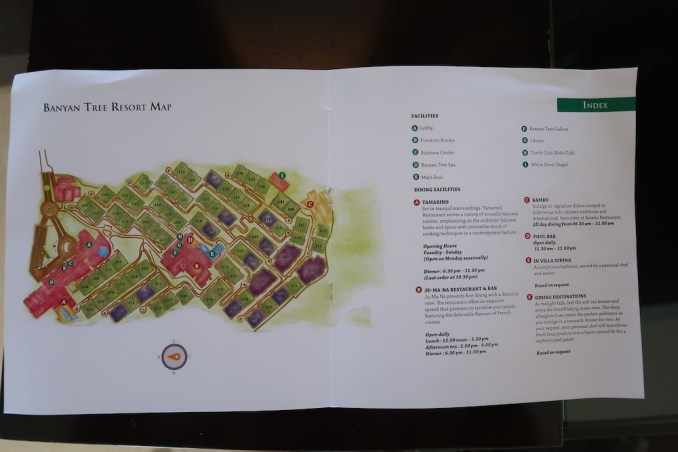 BANYAN TREE UNGASAN: RESORT MAP