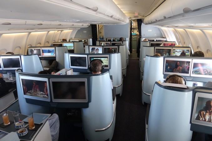 KLM A330 BUSINESS CLASS CABIN (IN FLIGHT)