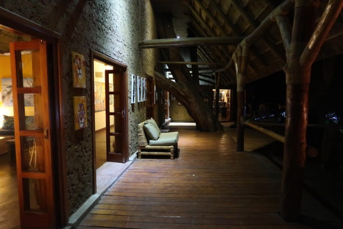 RUZIZI TENTED LODGE AT NIGHT