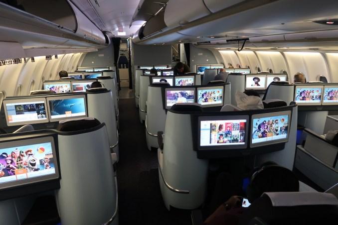 KLM A330 BUSINESS CLASS CABIN
