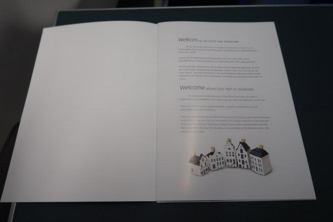 KLM A330 BUSINESS CLASS: MENU