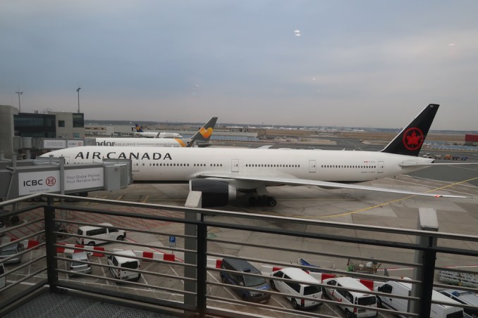 AIR CANADA MAPLE LEAF LOUNGE AT FRANKFURT AIRPORT (VIEW)