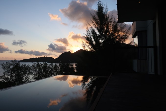 RAFFLES SEYCHELLES: OCEAN VIEW VILLA AT SUNRISE