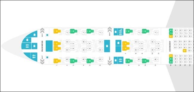 B777 QSUITE SEAT MAP