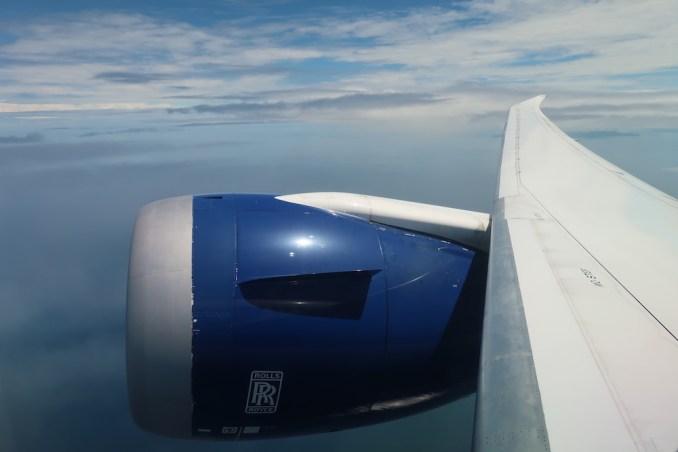 BRITISH AIRWAYS B787: DEPARTURE FROM SEYCHELLES AIRPORT