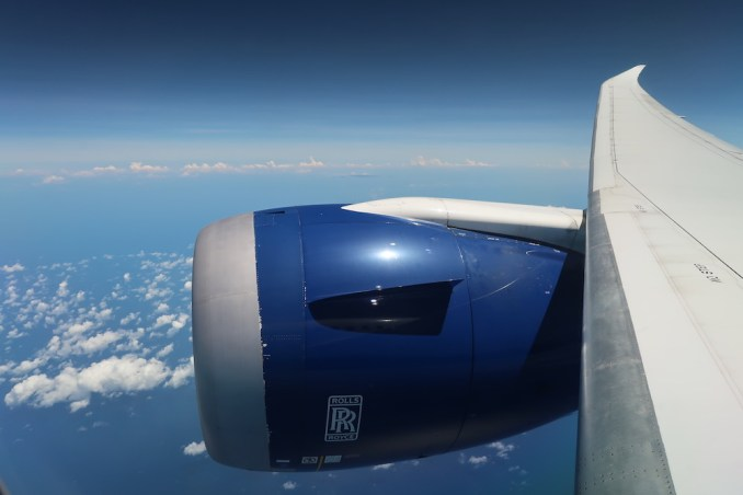 BRITISH AIRWAYS B787: FLYING OVER INDIAN OCEAN