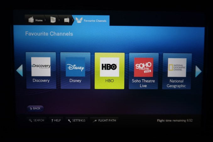 BRITISH AIRWAYS B787: INFLIGHT ENTERTAINMENT