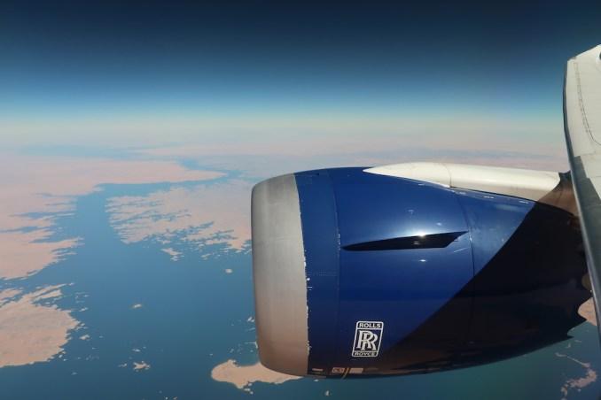 BRITISH AIRWAYS B787: FLYING OVER EGYPT