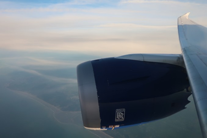 BRITISH AIRWAYS B787: REACHING THE ENGLISH CHANNEL