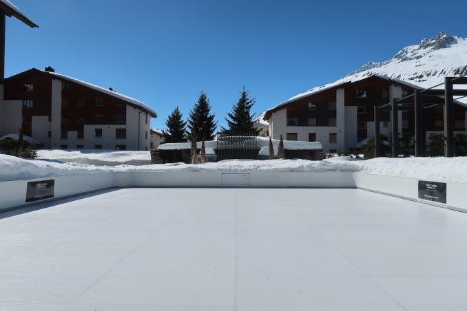 THE CHEDI ANDERMATT: INNER COURTYARD (ICE RINK)
