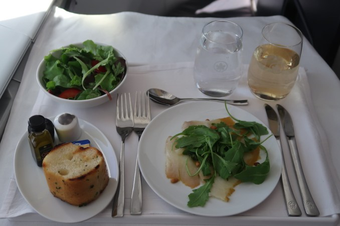 AIR CANADA B787 BUSINESS CLASS: LUNCH
