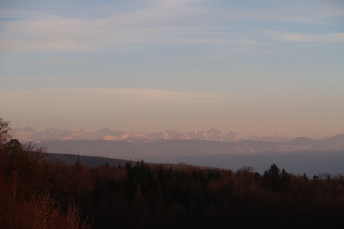 THE DOLDER GRAND AT SUNSET (VIEW OF ALPS)