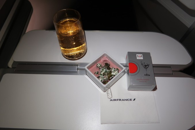 AIR FRANCE BUSINESS CLASS DINNER