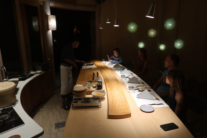 SONEVA FUSHI: DINNER AT OUT OF THE BLUE (SUSHI COUNTER)