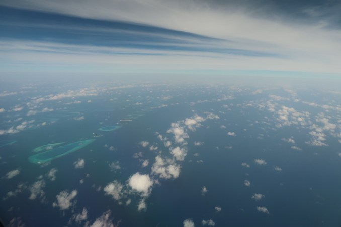 VIEWS OF MALDIVES AFTER TAKEOFF