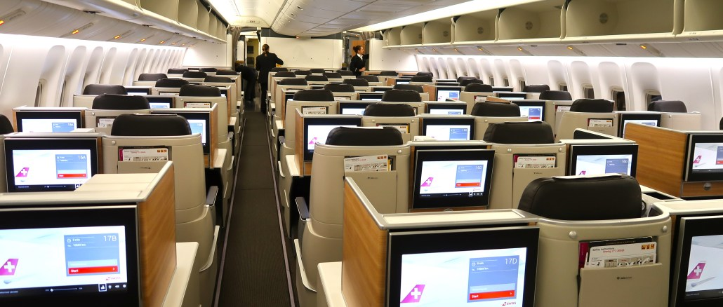 swiss boeing 777 business class review